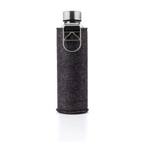 Skleněná láhev z borosilikátového skla s plstěným obalem Equa Mismatch Silver,750ml