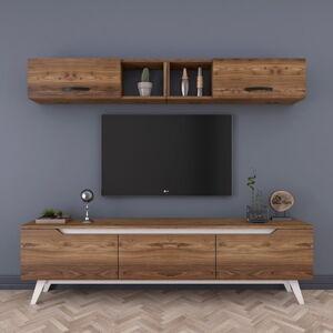 Set TV stolku a nástěnné skřínky v dřevěném dekoru Wren