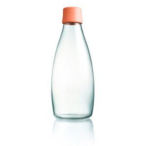 Meruňkově oranžová skleněná lahev ReTap s doživotní zárukou, 800ml