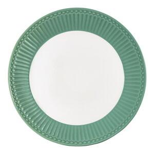 Keramický talíř s tmavě zeleným okrajem Green Gate Alice, ø 23cm
