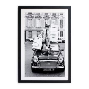 Černobílý plakát Velvet Atelier Chanel, 40 x 30 cm
