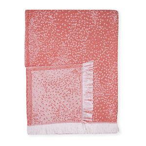 Červený pléd s podílem bavlny Euromant Dotty Diamond, 140 x 180 cm