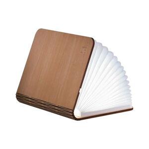 Světle hnědá velká LED stolní lampa ve tvaru knihy z javorového dřeva Gingko Booklight