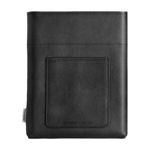 Černé kožené pouzdro na placatku Memobottle A5 Sleeve