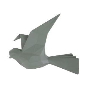 Zelený nástěnný věšák ve tvaru ptáčka PT LIVING, šířka 19 cm