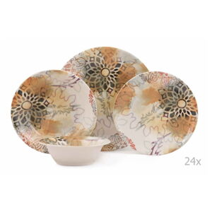 24dílná sada porcelánového nádobí Kutahya Luminaro