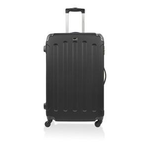 Černý cestovní kufr na kolečkách Bluestar,46l