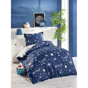 Modré povlečení na jednolůžko Jussno Night Sky, 140 x 220 cm
