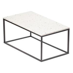 Konferenční stolek s kamennou deskou RGE Bianco, délka 110 cm