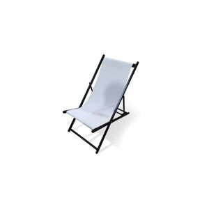 Bílé skládací zahradní lehátko Le Bonom Deck, délka 106 cm