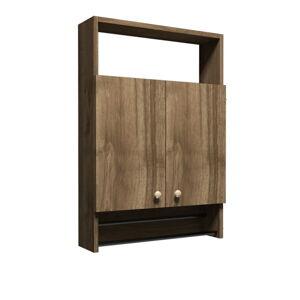 Koupelnová skříňka v dekoru ořechového dřeva Muzzo Ela