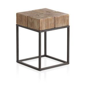 Stolička na sezení s kovovými nohami Geese Robust,33 x 33 cm