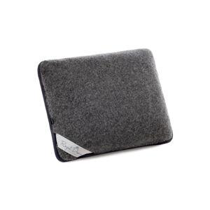 Tmavě šedý polštář z merino vlny Royal Dream, 50x60cm