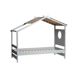 Šedá dětská postel Marckeric Nayah,90x190cm
