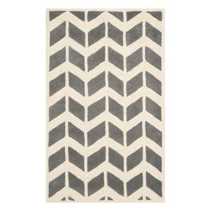 Vlněný koberec Safavieh Brenna 121x182 cm, šedý