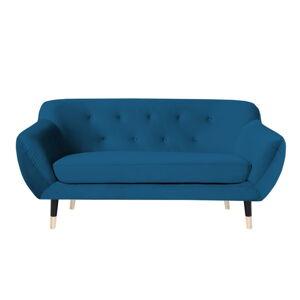 Modrá pohovka s černými nohami Mazzini Sofas Amelie, 158 cm