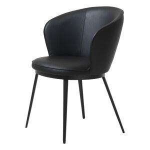 Černá jídelní židle z imitace kůže Unique Furniture Gain Leath