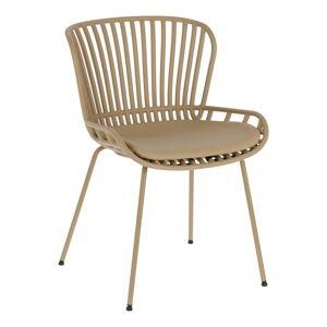 Béžová zahradní židle s ocelovou konstrukcí La Forma Surpik