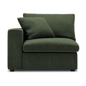 Tmavě zelená rohová část modulární pohovky Windsor & Co Sofas Galaxy, levý roh