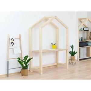 Přírodní dřevěný domečkový stůl BenlemiStolly s béžovou deskou, 97x133cm