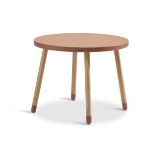 Růžový dětský stolek Flexa Dots, ø 60 cm