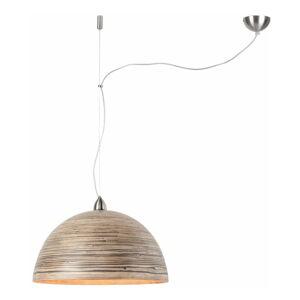 Hnědé závěsné bambusové světlo Good&Mojo Halong