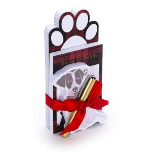 Set 3 poznámkových bločků s propiskou Tri-Coastal Design Dog, 100 stran