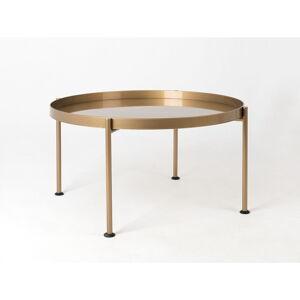 Konferenční stolek ve zlaté barvě Custom Form Hanna, ø 60 cm