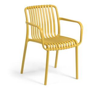 Hořčicově žlutá zahradní židle La Forma Isabellini