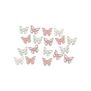 Sada 18 přízdob ve tvaru motýla Ego Dekor Fly