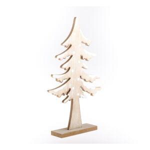 Dřevěná dekorace ve tvaru stromu Dakls, výška 34 cm