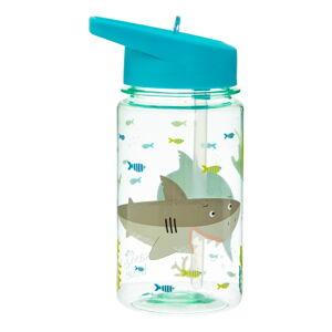 Dětská láhev na vodu s brčkem Sass & Belle Drink Up Shelby the Shark,400ml
