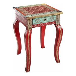 Červený odkládací stolek z mangového dřeva Støraa Vito