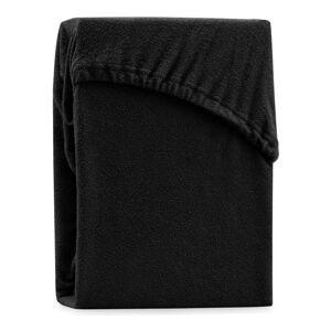 Černé elastické prostěradlo na dvoulůžko AmeliaHome Ruby Siesta, 220/240 x 220 cm