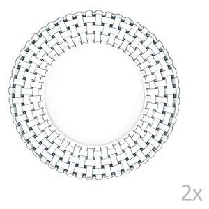 Sada 2 talířů z křišťálového skla Nachtmann Bossa Nova, ⌀ 23 cm