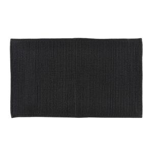 Černá koupelnová předložka z bavlny Södahl, 50x80cm