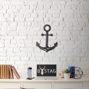Nástěnná kovová dekorace Anchor, 47x35 cm