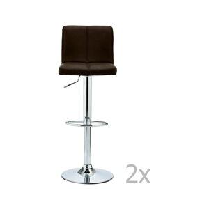 Sada 2 barových tmavě hnědých židlí Furnhouse Coco