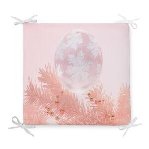 Vánoční podsedák s příměsí bavlny Minimalist Cushion Covers Pink Ornaments,42x42cm