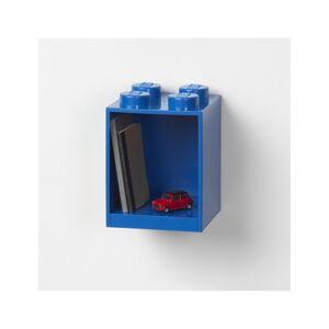 Dětská modrá nástěnná police LEGO® Brick 4