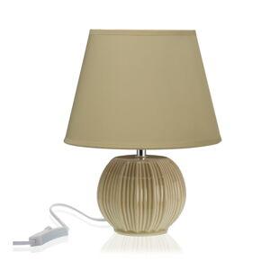 Béžová stolní keramická lampa Versa
