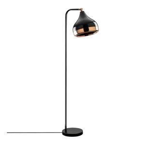 Stojací lampa v černo-měděné barvě Opviq lights Yildo