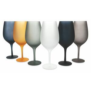 Sada 6 barevných sklenic na víno Villa d'Este Cala Dorada