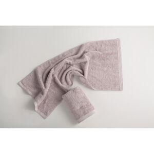 Světle šedý bavlněný ručník El Delfin Lisa Coral, 50 x 100 cm