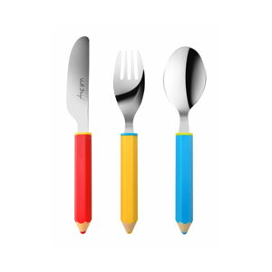 3dílná sada dětských příborů Vialli Design Pencil