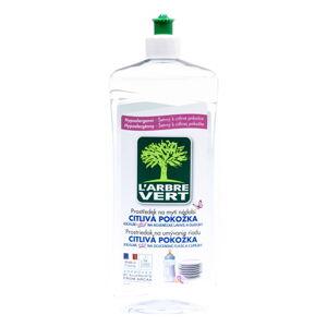 Ekologický mycí prostředek na nádobí pro citlivou pokožku L´Arbre Vert Sensitive, 2 x 750 ml