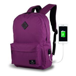 Fialový batoh s USB portem My Valice SPECTA Smart Bag