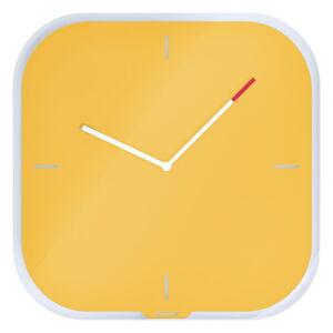 Žluté nástěnné popisovací hodiny Leitz Cosy