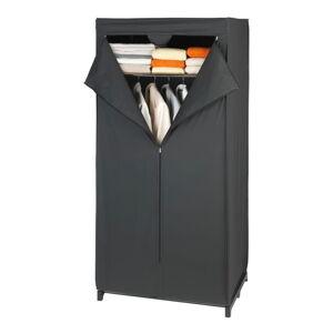 Černá látková úložná skříň Wenko, 160 x 50 x 75 cm