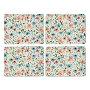Sada 4 ks prostírání z korku Cooksmart ® Country Floral